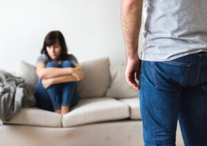 unhappy couple arguing verbal abuse