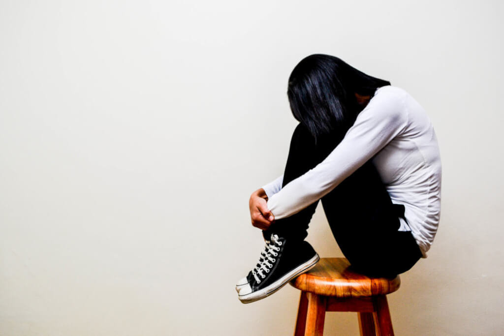 youth sitting chair sneakers borderline personality disorder