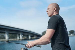 fishing bald man ocean drug rehab san diego