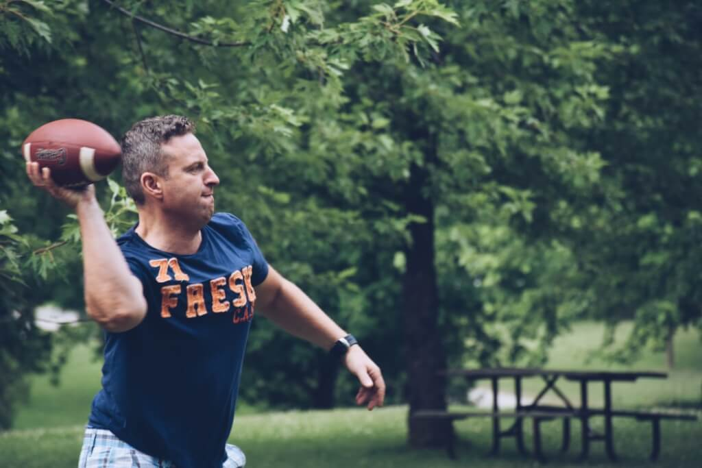 age tom brady superbowl man throwing football ronald reagan